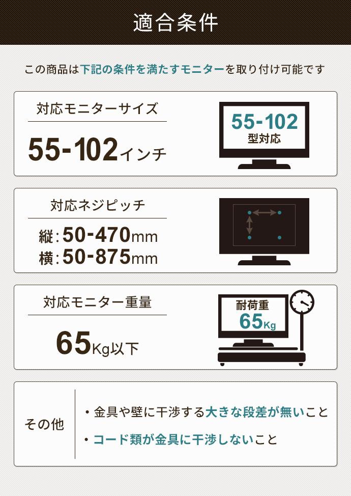 TVセッターチルトGP101L適合条件
