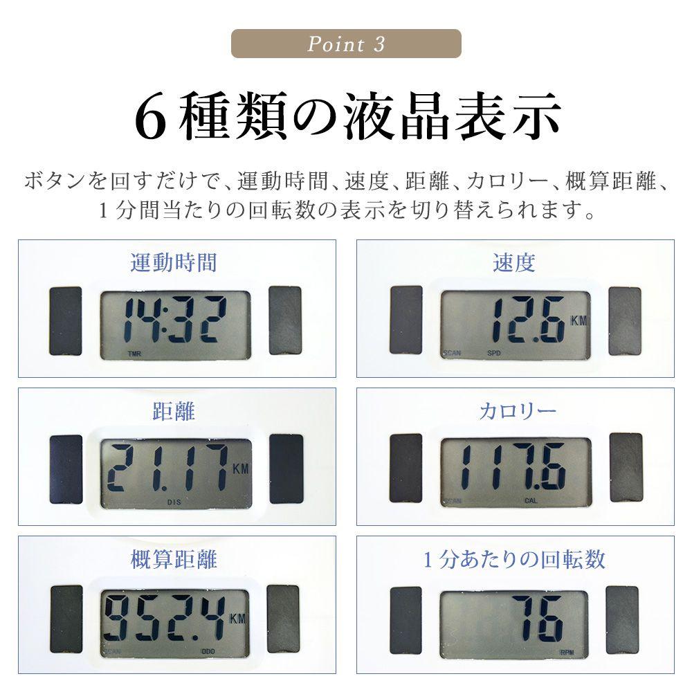 6種類の液晶表示